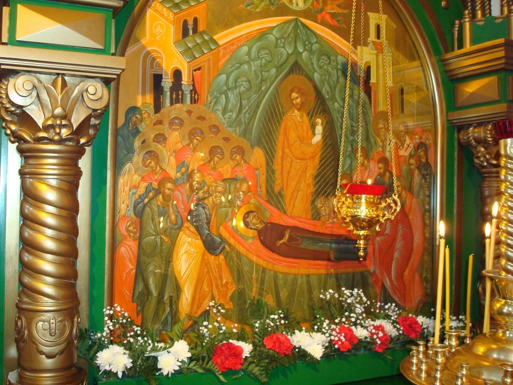 храмовая икона Успения Пресвятой Богородицы